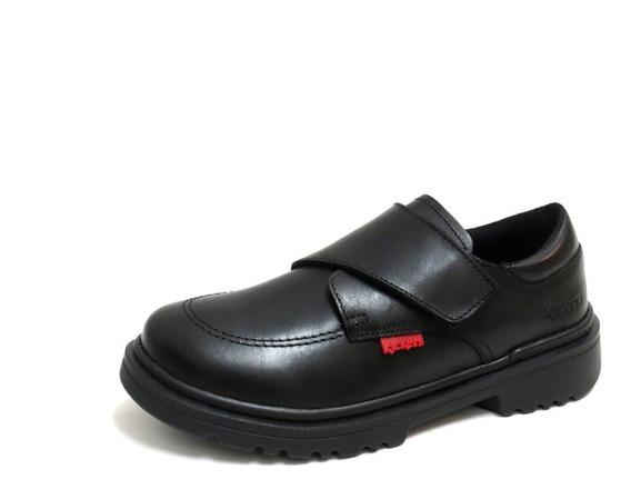 Zapatos Niños Escolares Kickers Con Abrojo 31/34 Kool