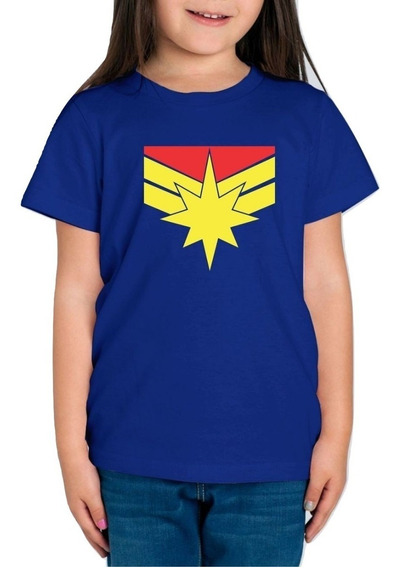 Playera Capitana Marvel Captain Marvel Niña Envio Gratis