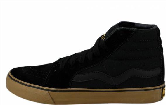 Tênis Sneakers Mad Rats Hi Top Preto Crepe Cano Alto Skate
