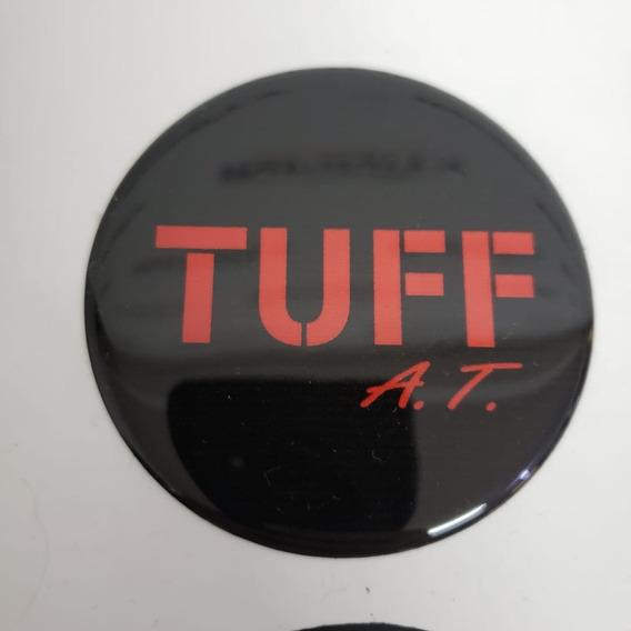 4 Emblema Roda Tuff Medida 51mm A 90mm Adesivo Resinado
