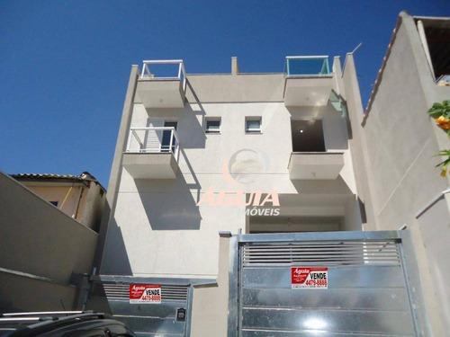 Cobertura Com 2 Dormitórios À Venda, 60 M² Por R$ 460.000,00 - Parque Das Nações - Santo André/sp - Co0858
