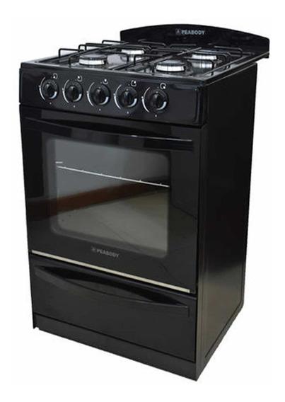 Cocina Multigas Peabody Lc56 Negro 56cm En Cuotas