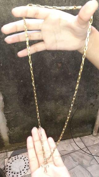 Cordão Masculino De Ouro,8,9 Gramas De Ouro 60cm