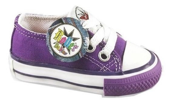 Zapatillas Lona Bebe Roller Star (17/20) Simil Converse All Star 17 18 19 20