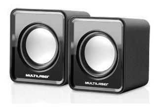 Multilaser Sp144 Mini Caixa De Som 2.0 3w Rms Original Preto