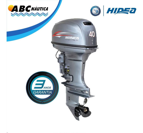 Imagem 1 de 11 de Motor De Popa 40hp Power Trim Hidea Comando
