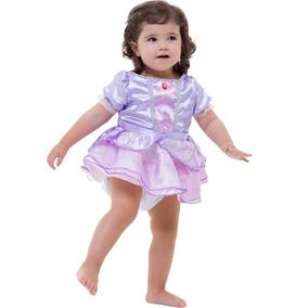 Roupa De Luxo Princesa Disney Sofia Baby Completa Original