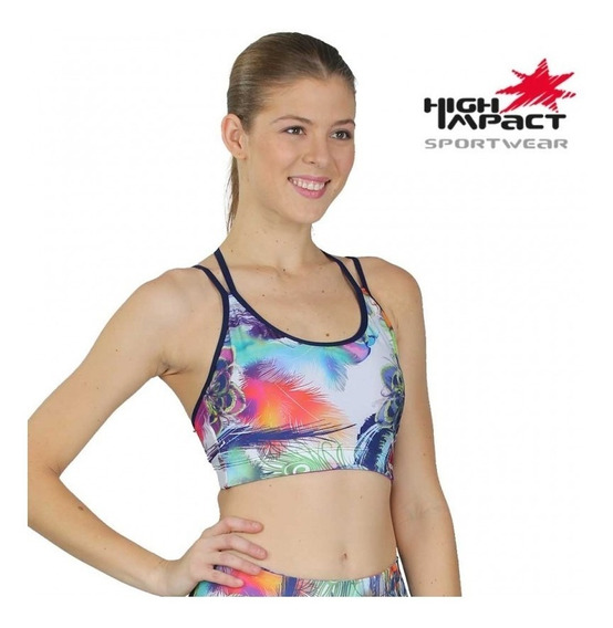 Top Corto Deportivo Dama Dryfit High Impact 91437 Nuevo