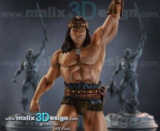 Archivos Stl De Impresión 3d - Conan - 3d Printing Files