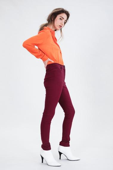 Pantalón Mujer Ayres Modelo Elf Bordeaux Nuevo