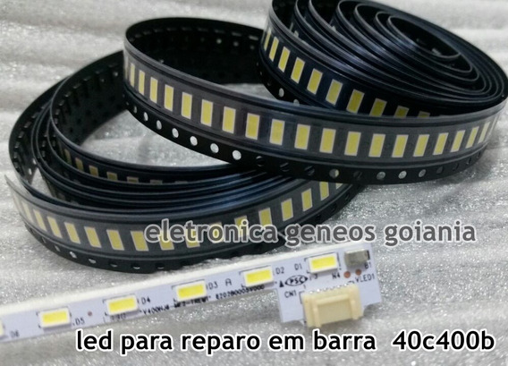 10 Led P/ Barra Tv Panasonic Tc40c400b Por Carta Registrada