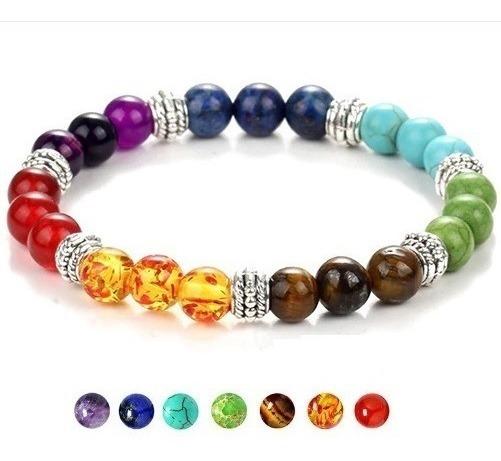 Pulseira 7 Chakras Buda Reiki Yoga Oração Pedras Coloridas