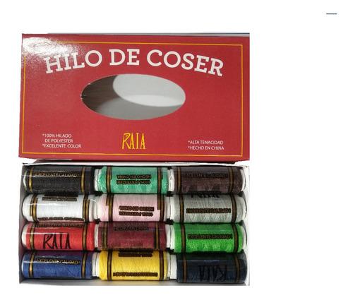 Hilos De Color En Caja X 12