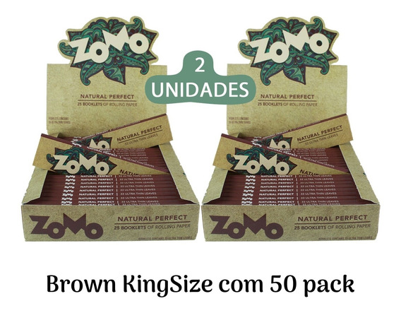 Caixa De Seda Zomo Smoking Brown Marrom C/50un Preço Atacado