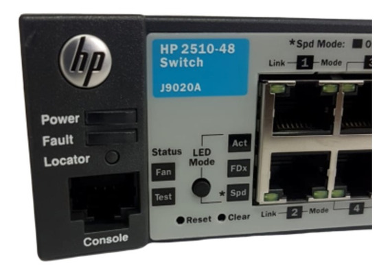 Switch Hp 2510-48 Portas 10/100 (j9020a) 2 Gigabit/sfp