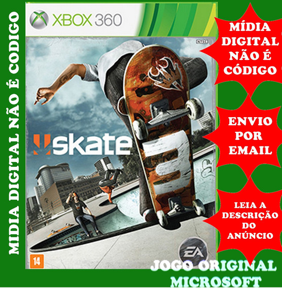 Skate 3 Xbox 360 Mídia Digital Original