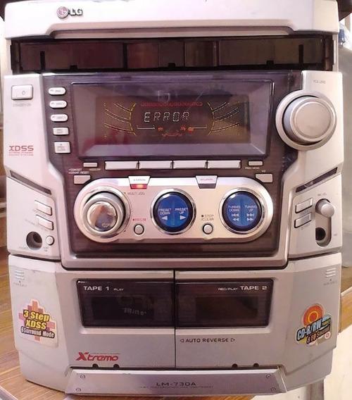 Aparelho De Som Lg 2300w De Potência Com Cassete E 3 Cds.