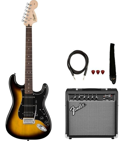 Kit Guitarra Fender Squier Stratocaster Affinity Frontman 15