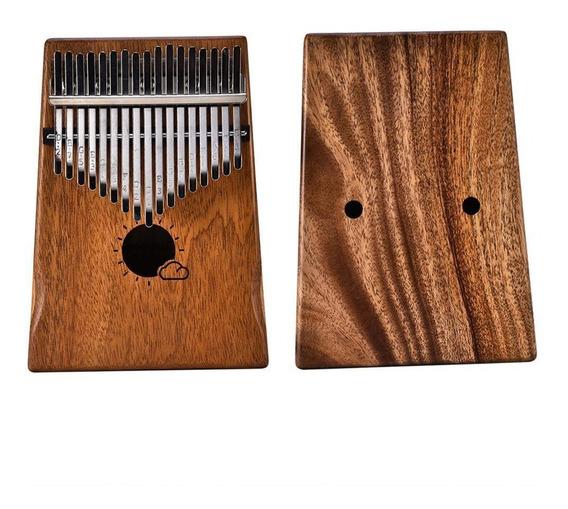17 Key Kalimba Thumb Piano Crianças Adultos Música Percussão