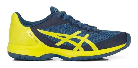 Tênis Asics Gel Court Speed Preto /azul Original +nf