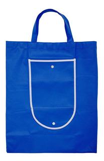 Bolsa Ecologica Con Broche Color Azul