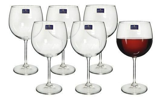 Jogo 6 Taças Cristal Vinho Tinto 570 Ml Bohemia Gatro