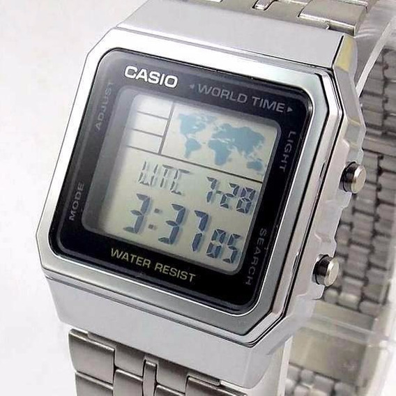 A500wa-1df Relogio Casio Quadrado World Time Original
