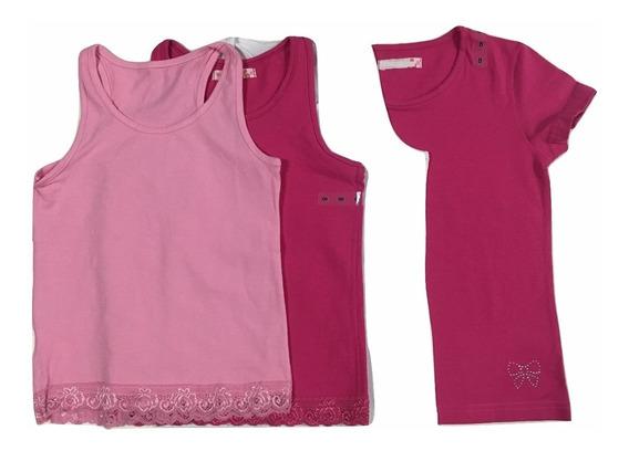 Fkit 4 Pcs Coton Blusa Infantil Tamanho 8 Anos Conforme Foto