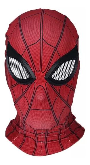 Máscara De Spiderman Lejos De Casa, Tela Lycra, + Envío
