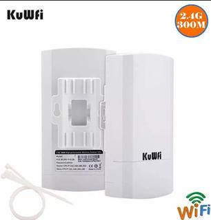 Antena Wi Fi/cpe 2.4ghz Kuwfi 300 Mbps Antena Longo Alcance