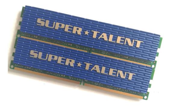 Memorias Pc Supertalent Blue 2x2gb 4gb Ddr2 800mhz Pc2-6400