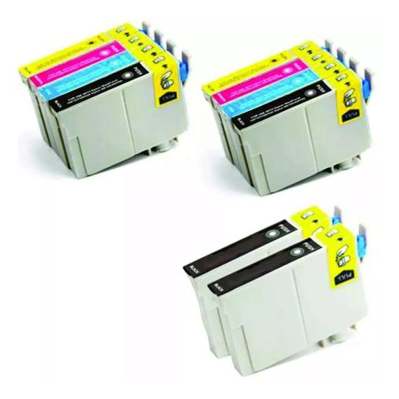 Kit 10 Cartucho Epson 135 To1351 133 Stylus T25 Tx123 Tx125
