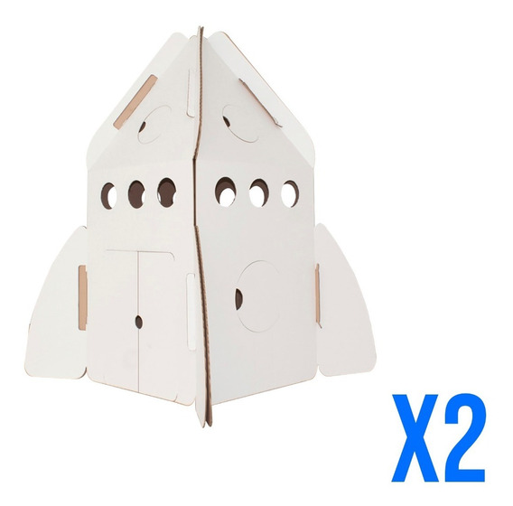 Duopack Cohete Estelar De Cartón Mamut Cardboard Toys