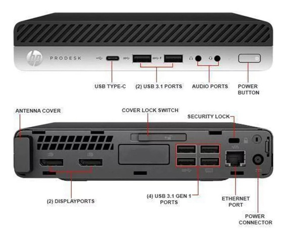Hp Prodesk 600g3 Desktop Mini I5-6500u 2.50ghz, 8gb Ssd 240
