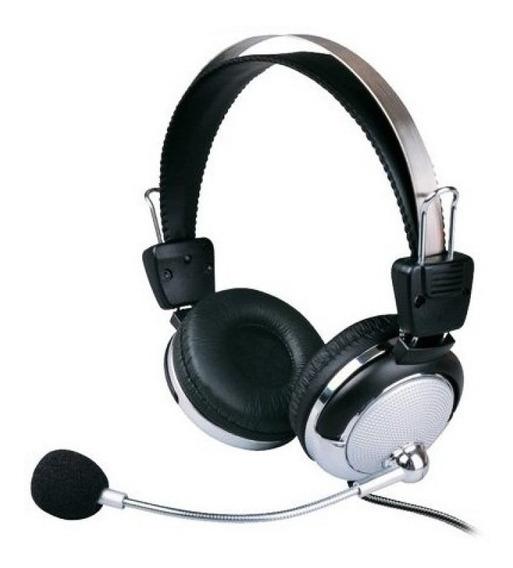 Fone Ouvido C/ Microfone Ajuste Volume Notebook Pc Lan House