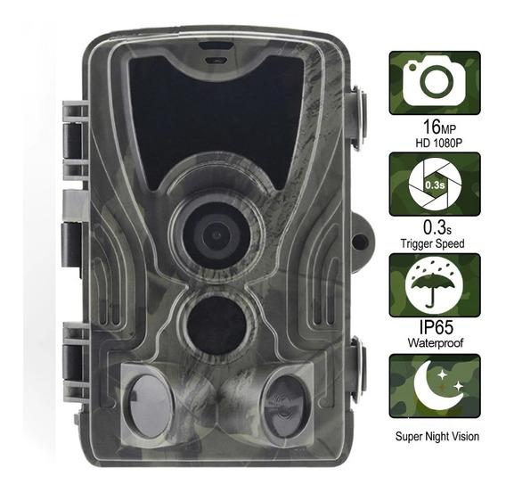 Camera De Trilha Visão Noturna 16mp Full Hd + Cartão 16gb