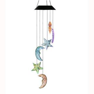 Changing Color Stars And Moon Wind Chime, Acelist Spiral Spi