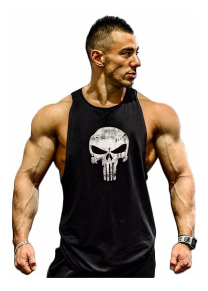 Playera Gym Olímpica Punisher Manga Resacada