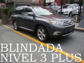 Toyota Highlander 2011 Blindada 3 Plus Blindaje Blindados