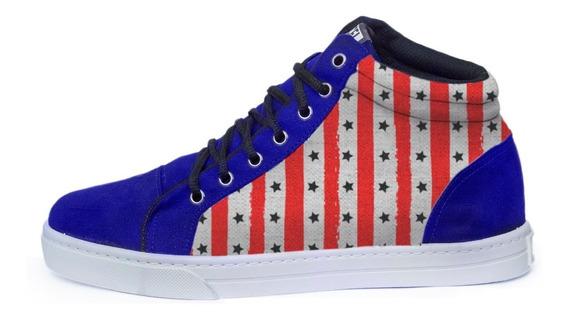 Tênis Wild Nation Eua Estados Unidos Bandeira Usa Sneakers