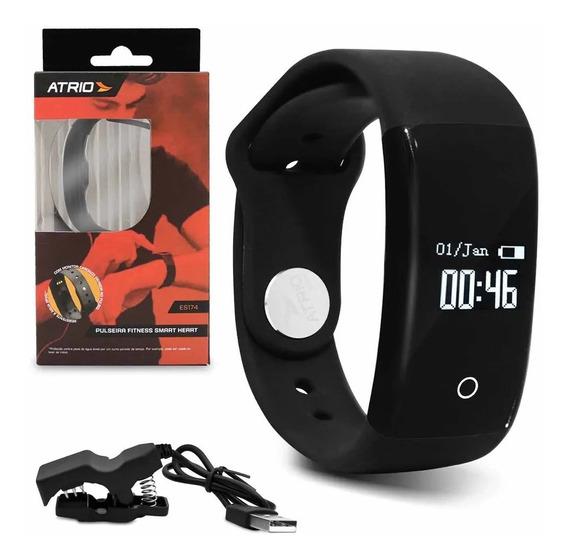 Pulseira Fitness Atrio Smart Es174 Monitor Cardíaco Calorias