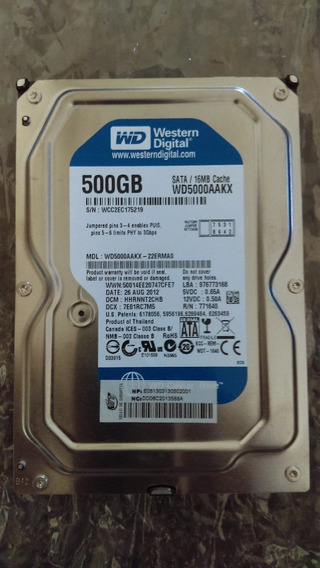Disco Duro Wd 500 Gb