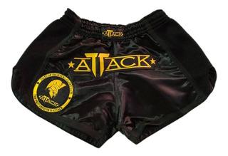 Shorts Muay Thai Attack - Modelo Tailandês Calção