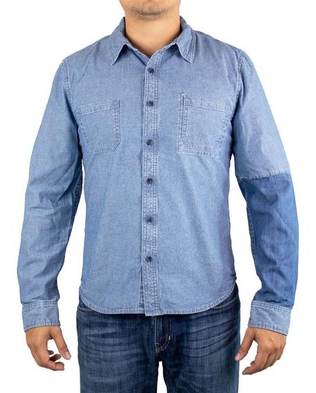 Camisa Hombre Casual De Mezclilla Para Caballero Estilo 3258