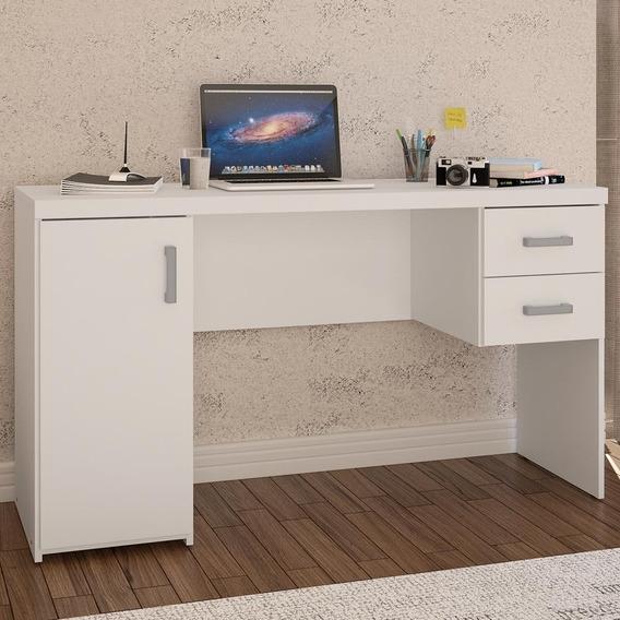 Mesa Para Computador Miranda Porta 2 Gavetas Branco