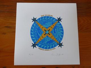 Grabados Serigrafía Serie Ecuatorial Bruna Truffa 81/120