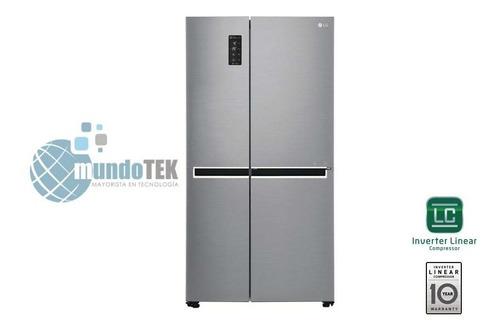 Refrigeradora LG Inverter Cromada 6261lts 21 Pies 2 Puertas