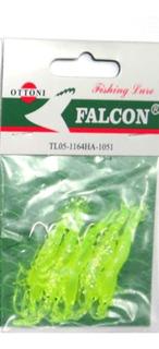 5 Iscas Camarão De Silicone Com 5 Cm Com Anzol - 1 Cartela