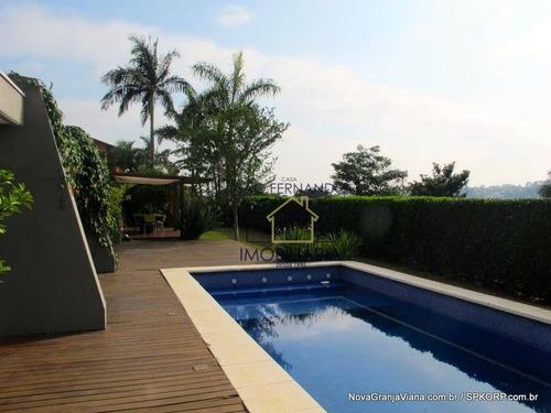 Imagem 1 de 28 de Casa Com 5 Dormitórios À Venda, 442 M² Por R$ 2.690.000,00 - Vila De São Fernando - Cotia/sp - Ca1457