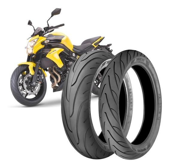 2 Pneu Moto Kawasaki Er-6n 160/60-17 69v 120/70-17 58v